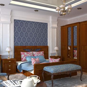 Спальня с 2 окнами дизайн.
