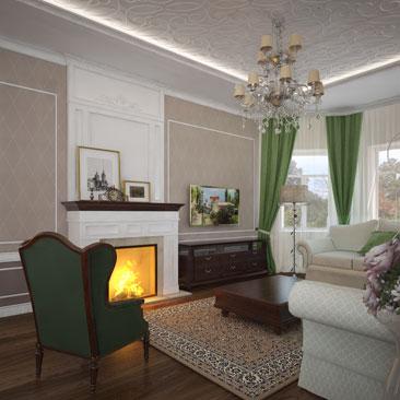 Дизайн интерьеров гостиных комнат (зала) с фото.