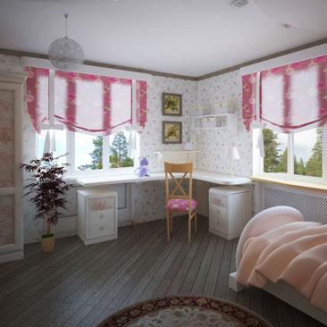 Детская с 2 большими окнами на смежных стенах фото размещения мебели. Пример интерьера детской комнаты с 2 крупными окнами и расположением большого количества мебели в интерьере. Учебный стол в детской между 2 окнами фото интерьеров. Угловой учебный стол в детской между двух окон фото интерьеров. Дизайн классической детской в коттедже с 2 окнами. Дизайн детской для девочки с высокими потолками. Дизайн элитных интерьеров Воронеж. Дизайн интерьеров в классике в Воронеже.