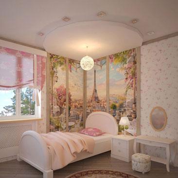 Большая квадратная детская комната для девочки с кроватью под окном фото интерьеров. Фото интерьеров детских в теплых цветах. Цветовое решение детской в теплых оттенках. Фото интерьеров детских девочек в теплых цветах. Детская для девочки с туалетным столиком, классической кроватью, угловым учебным столом, угловым платяным шкафом и подвесным телевизором. Дизайн детской для девочки с 2 окнами на смежных стенах. Проекты детских комнат с двумя окнами. 2 окна в детской комнате для девочки фото интерьеров. Детская с 2 окнами на разных стенах - фото решения интерьеров.