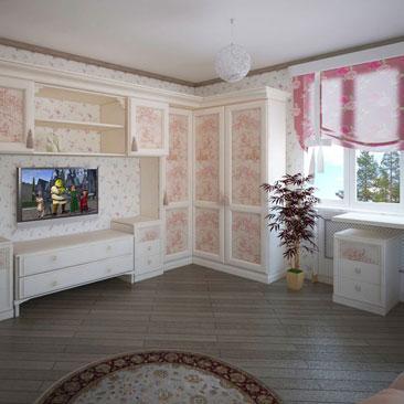 Французский стиль в интерьере детской комнаты создается за счёт классической мебели молочного оттенка, фотообоев с видом на Эйфелеву башню и цветочного классического принта на обоях и шторах. Дизайн спальни для юной девушки подростка в стиле Париж. Дизайн интерьеров коттеджей в классике Санкт-Петербург. Дизайн детской комнаты в Парижском стиле - обилие цветочного рисунка в текстиле и обоях, молочно-бежевые оттенки в интерьере. Цветовое решение детской в коттедже. Фото интерьеров детских в коттеджах. Фото интерьеров детских с фотообоями Парижа.