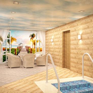Интерьер бассейна фото, дизайн бассейна в частном коттедже.