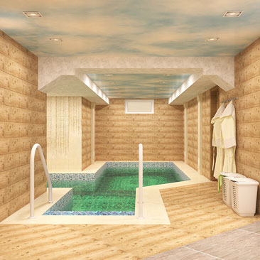Interior design swimming pool