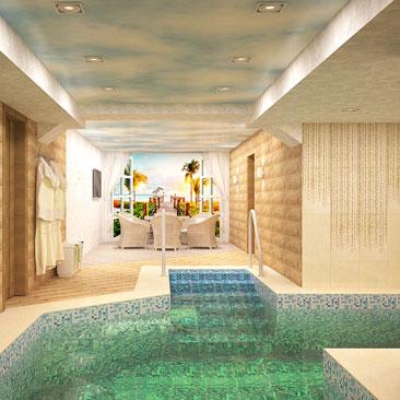 Дизайн интерьера бассейна в загородном доме - фотогалерея проектов.