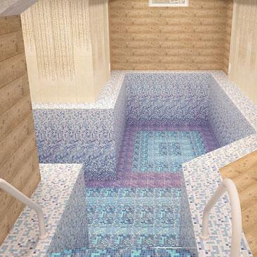Дизайн бассейна в коттедже - фото.