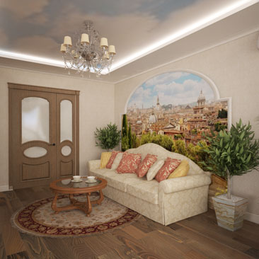 Дизайн гостиной - фото интерьера.
