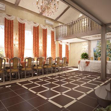 Дизайн-проект банкетного зала.