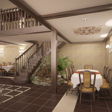 Дизайн интерьера. Интерьер банкетного зала.