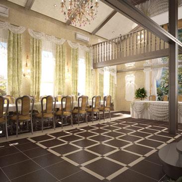 Интерьерный дизайн банкетного зала ресторана - портфолио.