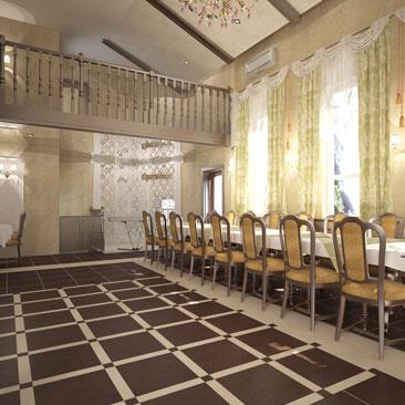 Дизайн-проект банкетного зала ресторана.