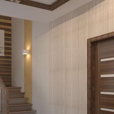 Заказ дизайн-проекта прихожей с лестницей