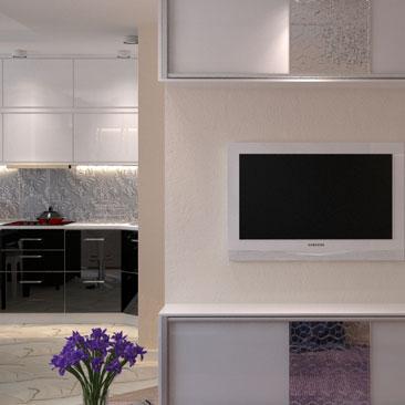 Красивое решение интерьера гостиной - перспективы. картинки.