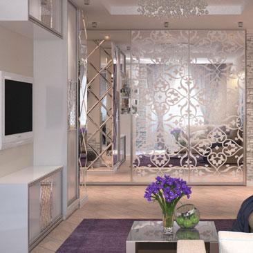 Интересный вариант интерьера - дизайн гостиной в квартире.