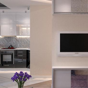 Интересный вариант интерьера - дизайн гостиной.
