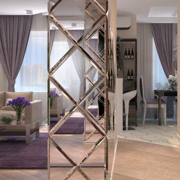 Интересные интерьеры квартир и домов - галерея проектов гостиных комнат.