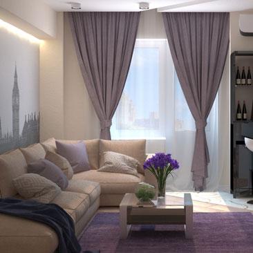 Интересные интерьеры гостиных комнат - интересные дизайны интерьера квартир и коттеджей.