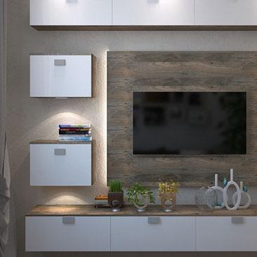 Дизайн интерьерных решений гостиных комнат - галерея проектов, картинки, 3д.