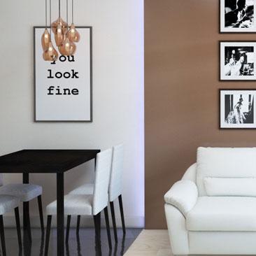 Интерьерное решение квартиры-студии - дизайн кухни-гостиной.