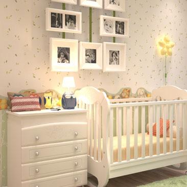 Дизайн интерьера комнаты для новорожденного