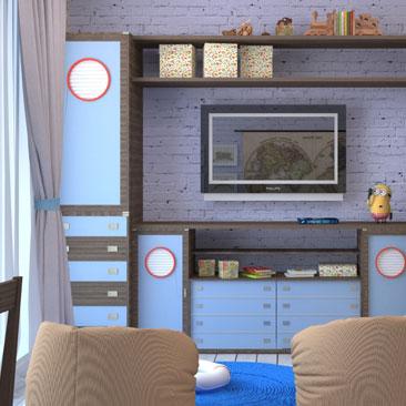 Детская юного мореплавателя - дизайн детской для мальчика (фото, галерея морских детских интерьеров).