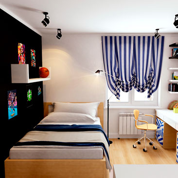 Дизайн-проект комнаты подростка - галерея проектов