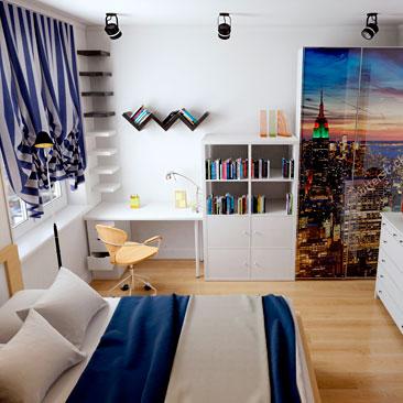 Дизайн подростковой комнаты для юноши-подростка - (дизайн-проект)