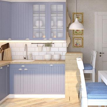 Дизайн интерьера кухни в Кантри стиле.