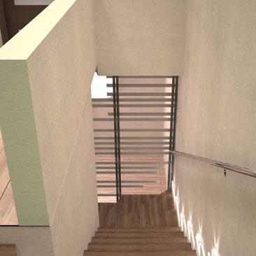 Дизайн лестницы с поворотом - фотогалерея проектов.