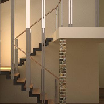 Парящие ступени - дизайн лестницы.