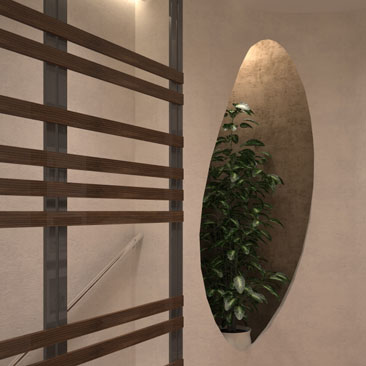 Лаконичное интерьерное решение дизайна холла коттеджа.