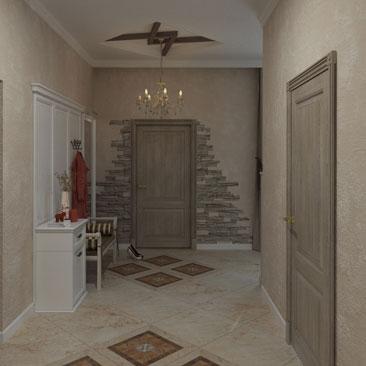 Фальш-балки в дизайне холла частного дома - галерея проектов.