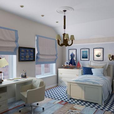 Детская комната на мансардном этаже.