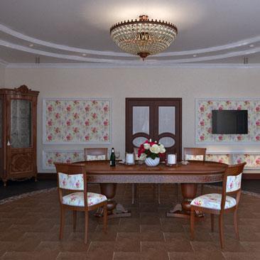 Идеи по оформлению стен в кухне-столовой.