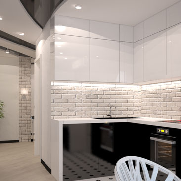 Идеи для интерьера кухни в ультра современном стиле.