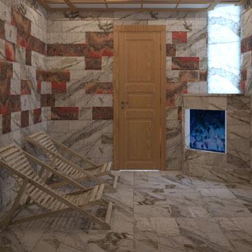 Дизайн проект соляной комнаты - фото