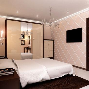 Дизайн проект спальни. Интерьер. Идеи. Фото.