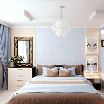 Интерьер спальни в современном стиле.
