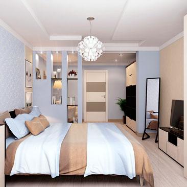 Дизайн спальни-кабинета (фото готового интерьер-проекта).