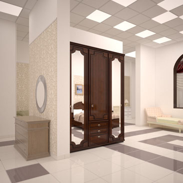 Дизайн интерьера магазина мебели.