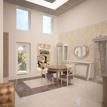 Дизайн-проект магазина мебели.