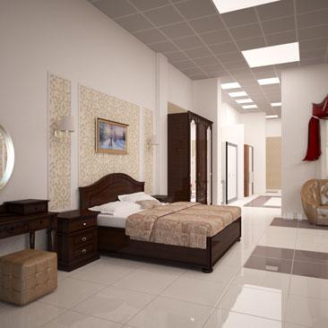 Проект интерьера мебельного магазина.