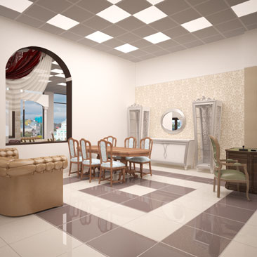 Дизайн и визуализация магазина мебели из Белоруссии.