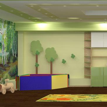 Фотогалерея интерьеров детских клубов и садов.