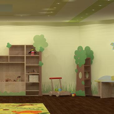 Примеры интерьеров детских клубов и садов - фото.