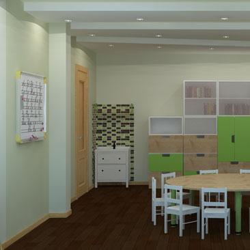 Дизайн интерьера детского развивающего клуба.