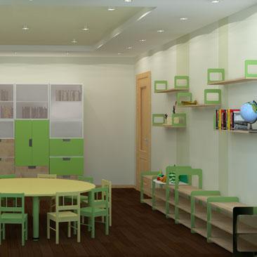 Дизайн-проект интерьера Монтессори-кабинета в частном детском садике.