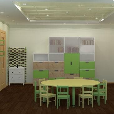 Дизайн интерьера Монтессори-комнаты в детском клубе (садике).