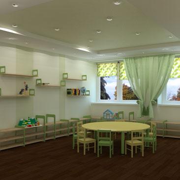 Дизайн кабинета для московского Монтессори-центра.