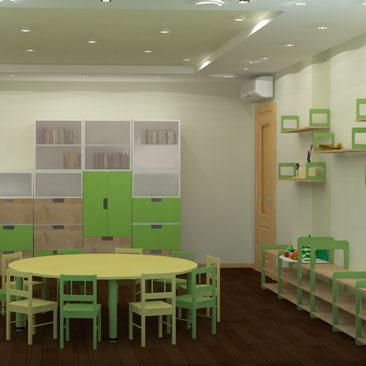 Дизайн интерьеров монтессори-центров.