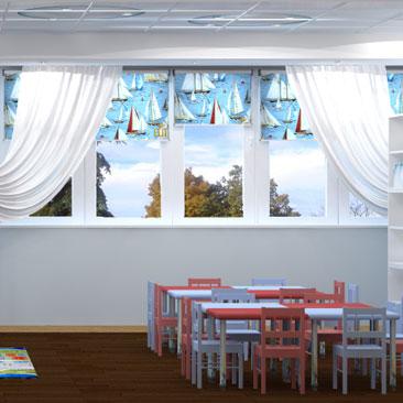 Интерьерный дизайн детского клуба - фото.